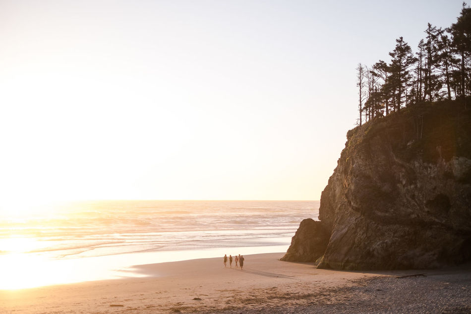 Beautiful stock photos of sonnenuntergang, Beach, Beauty In Nature, Cannon Beach, Clear Sky