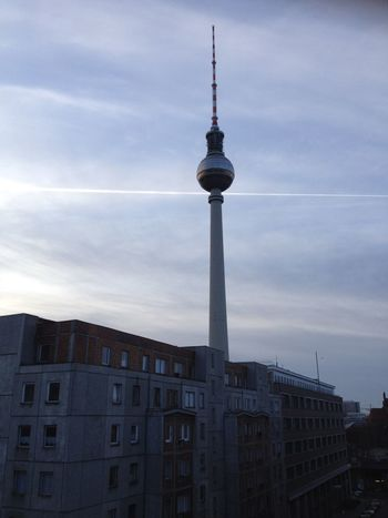 Early morning view of TV tower from Hotel Lux 11. Alexanderplatz Architecture Berlin Capital Cities  City Cloud Cloud - Sky Cloudy Cross International Landmark Retromodern Sky Skyscraper Sphere Tall Tall - High Television Tower Tourism Tower Travel Destinations TV Tower