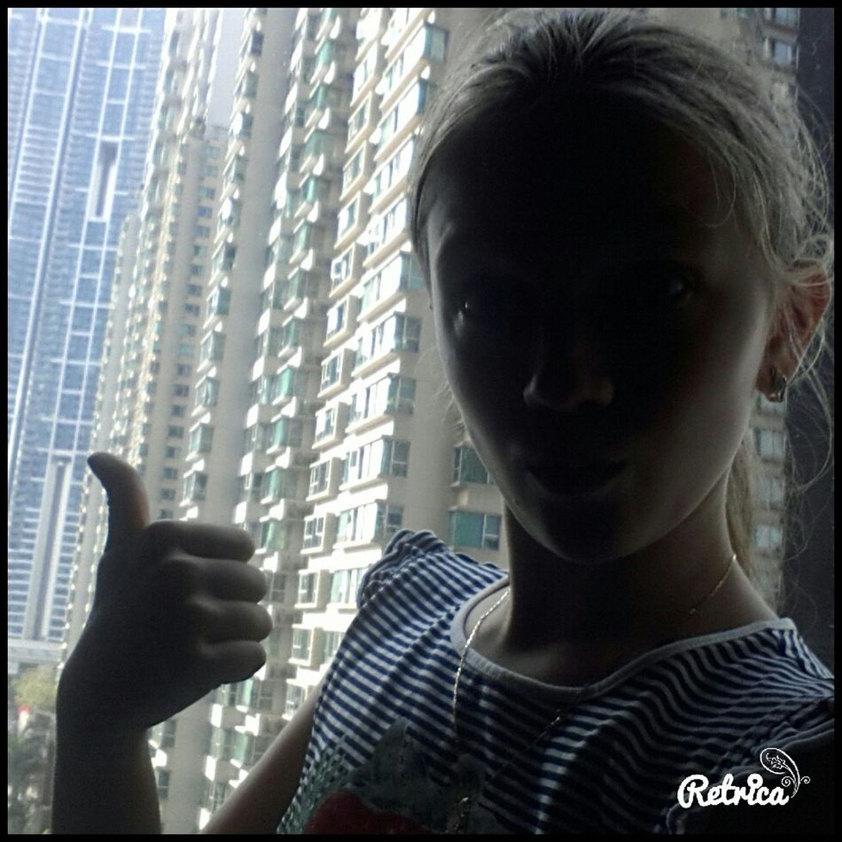 А у нас солнце Retrica✌ Гонконг беспаливноть