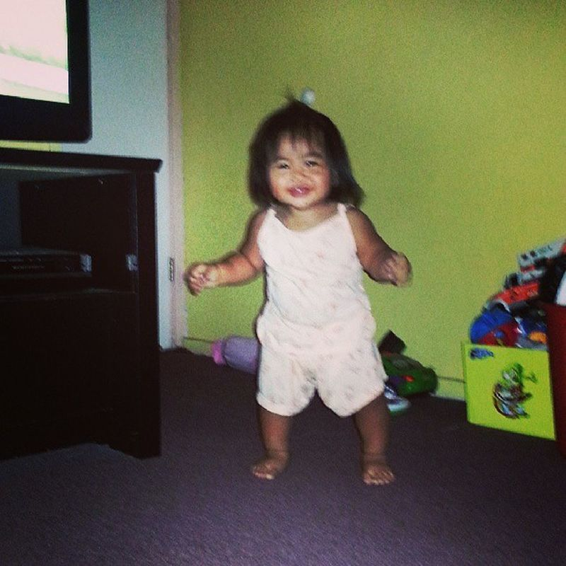 Practicing her walking again. She's almost got it :) LindseyAnne Youcandoit Baby Walk likeabawsss