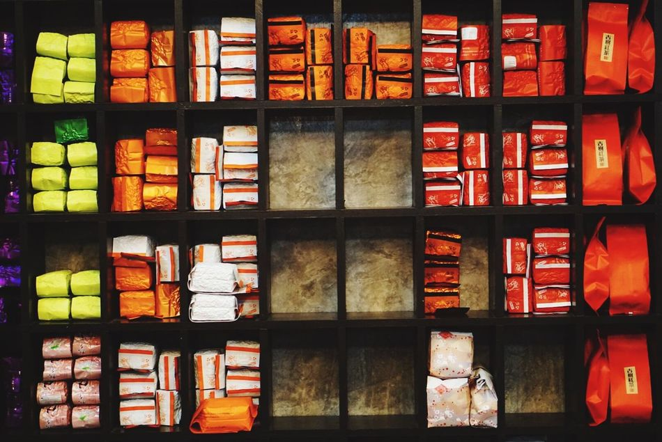 Large Group Of Objects Shelf Arrangement Variation Retail  Full Frame Stack In A Row Indoors  Choice Backgrounds No People Bookshelf Library Day Tea Tea Time Chiangrai ดอยแม่สลอง EyeEmNewHere