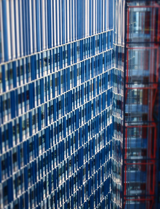 Architecture Blue Building Exterior Built Structure City Day Glass Building Modern No People Office Block Office Building Exterior Outdoors Pattern Red Accent Urban Geometry Urbanphotography White