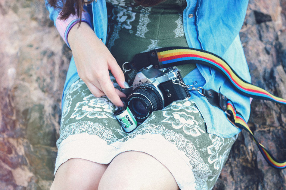 35mm moments 35mm Adventure Camera Camera - Photographic Equipment Casual Clothing Close-up Dress Film Film Photography Filmisnotdead Girl Human Body Part Human Hand Ilford Midsection One Person One Woman Only Only Women Outdoors Pentax Tourist Vintage Young Adult