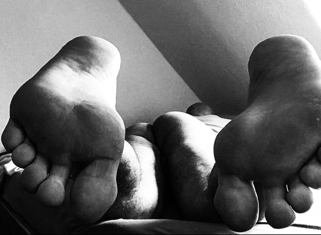 Feet Erotic_monochrome Mature Man Nudeblackandwhite Sensual Man Indoors  Barefoot Lying Down Low Section One Person Close-up Men Real People