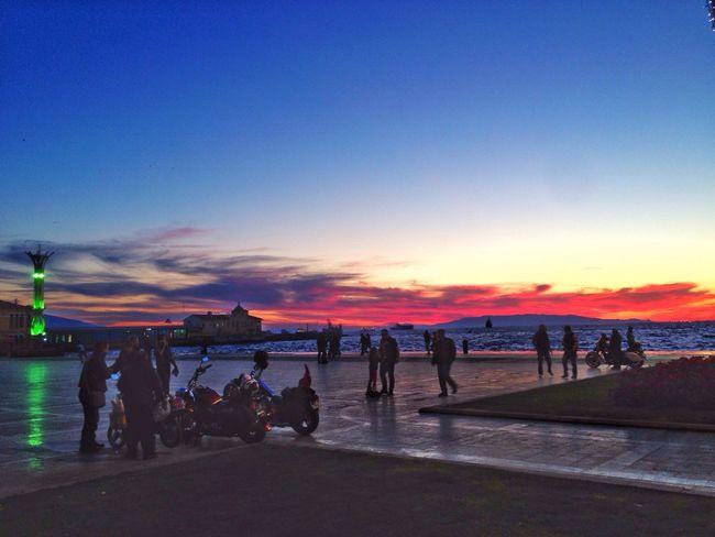 Sunset Siluet Republicsquare Izmir Sunsetizmir Izmirlife Sea And Sky