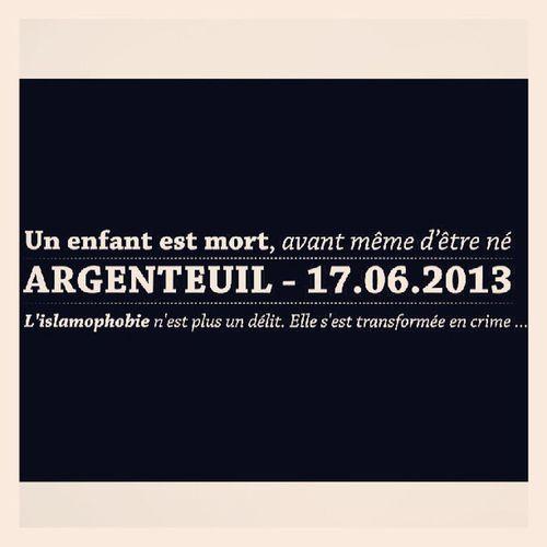 Islamophobie Argenteuil France - on oublie pas ...