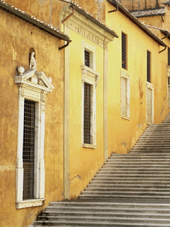 Rome Piazza Del Campidoglio Capitoline Steps Steps And Staircases Yellow Europe Faded Beauty History Traveling EyeEm Best Shots EyeEm Gallery