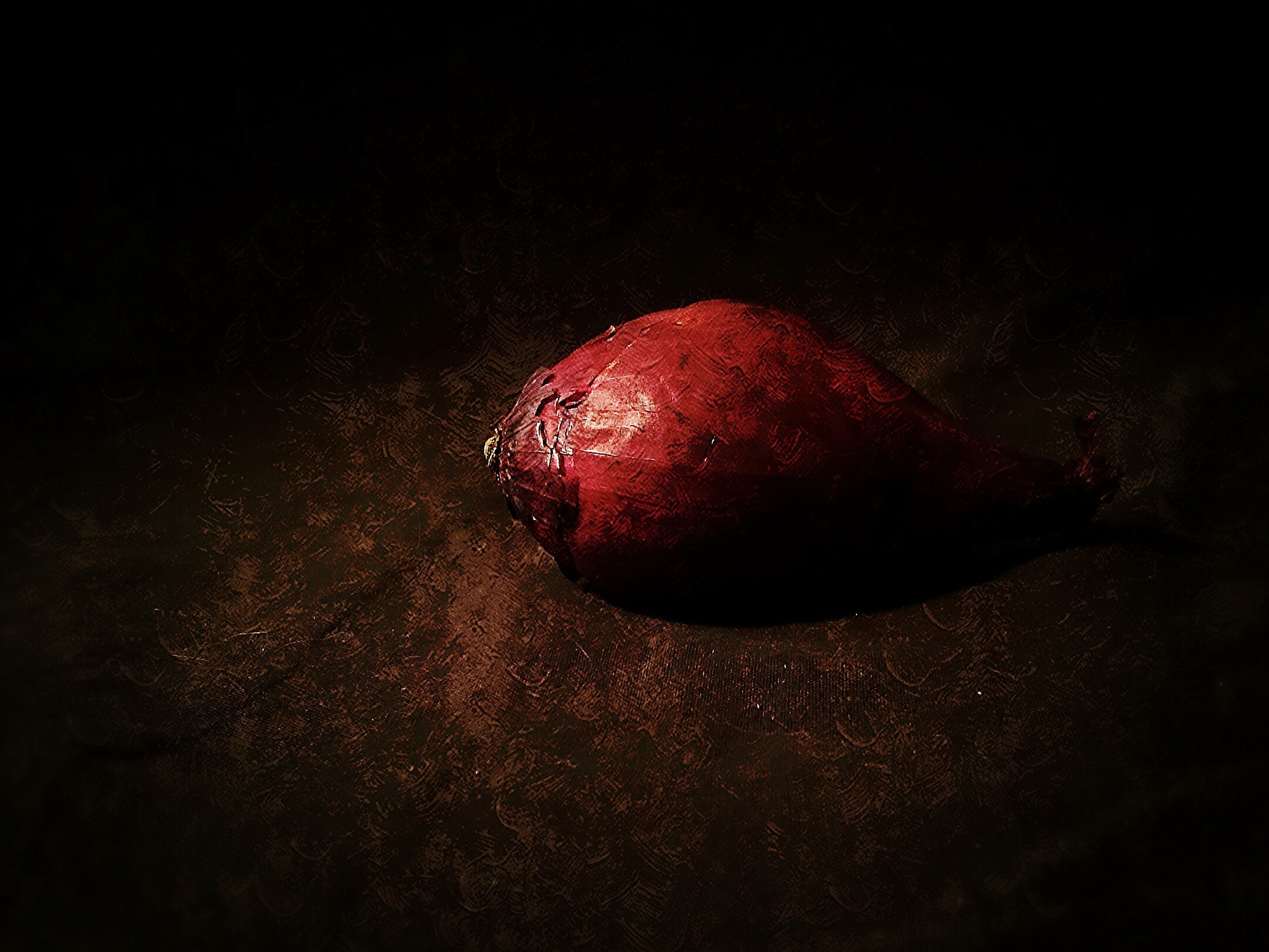 red, food and drink, fruit, food, still life, close-up, freshness, healthy eating, high angle view, no people, studio shot, copy space, single object, indoors, vignette, wet, auto post production filter, selective focus, heart shape, nature