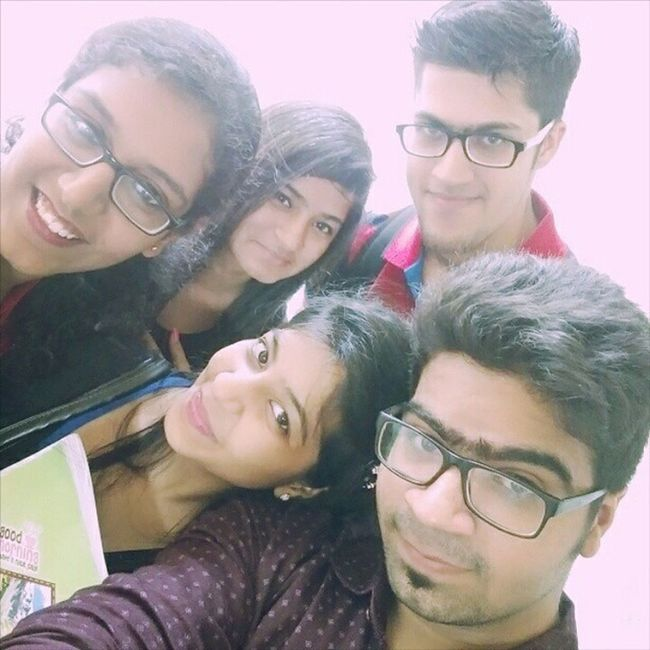 They say Friends are Family which we choose for ourselves Preexam Groupfie Tensed FirstStep Endingandnewbegining