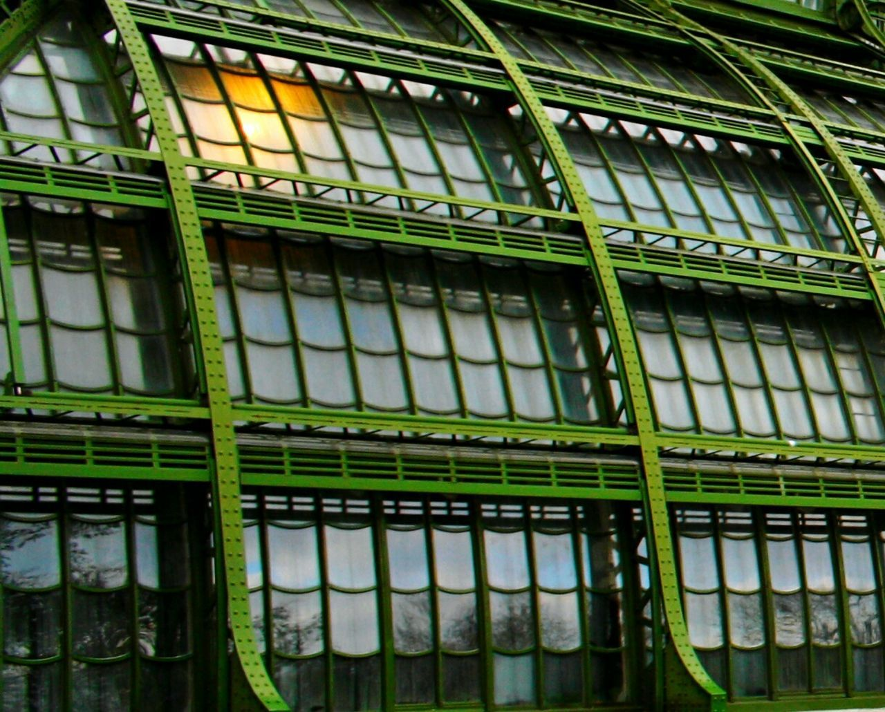 green color, architecture, no people, full frame, outdoors, built structure, day, low angle view, close-up