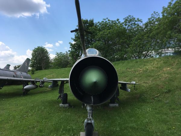 Cold War Cold War Relic Day Field Fighter Jet Fighter Plane Grass Green Color Growth Jet Engine Migs No People Nose Outdoors Polish Airforce Polish Military Russian Aircraft Russian Airforces Russian Military Sky Tree War Planes Winged Wings Wingspan