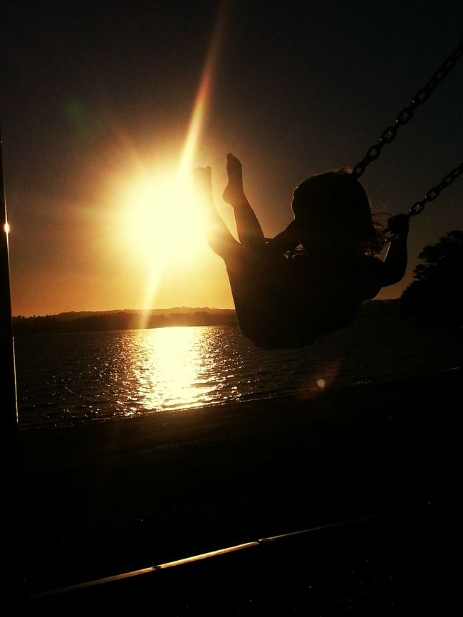 Into the sun Sunset Children Creative Childsplay Intothelight Intothesun My Best Photo 2015