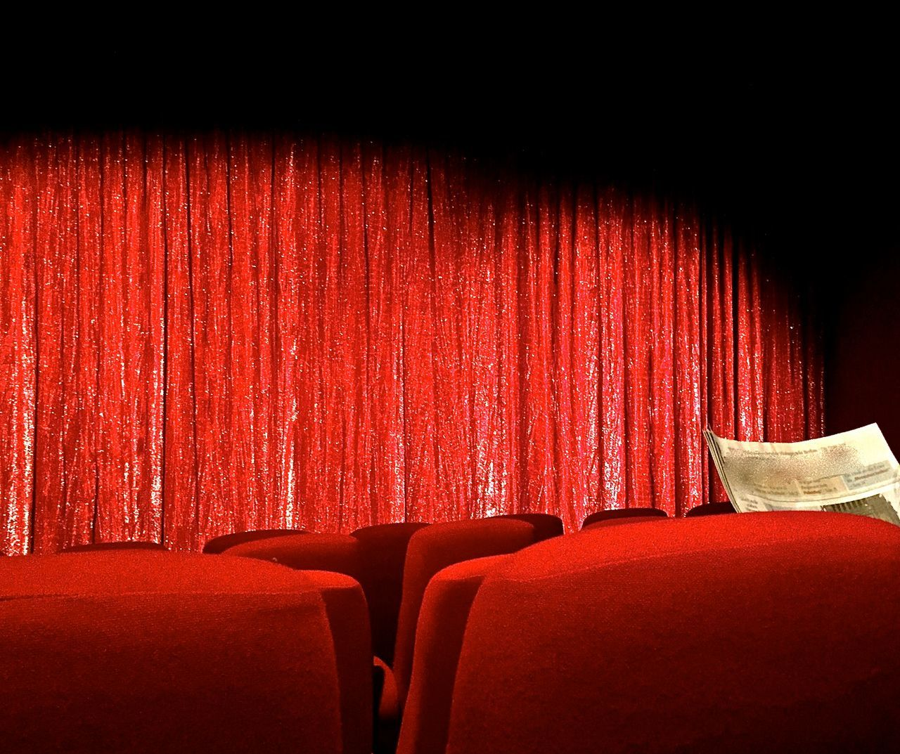 Chair Communication Culture Curtain Digital Media Film Industry Future Vision Indoors  Movie Theater Movie Theater Seats News Media Newspaper No People Old Media Old School Media Red Seat Storytelling Backgrounds