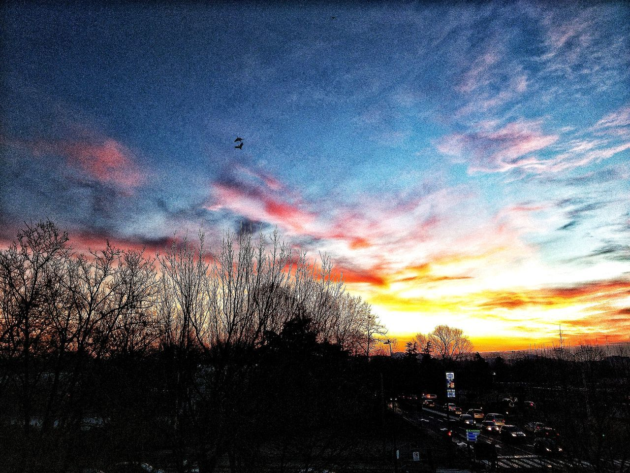 Hdr_Collection Morning Winter Suburban Sky