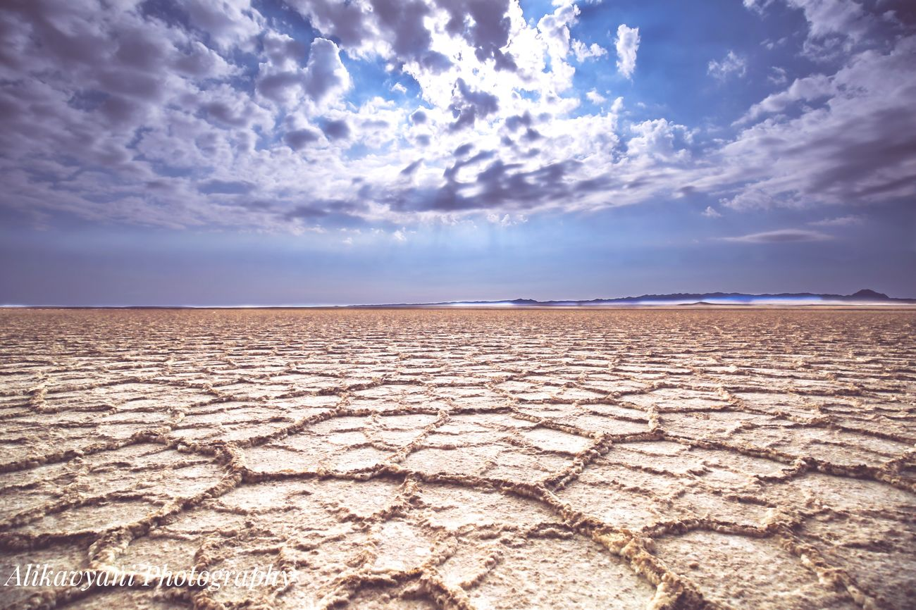 Nature Beauty In Nature Sky Scenics Cloud - Sky Desert Tranquil Scene Non-urban Scene Landscape Salt Flat Arid Climate Outdoors Tranquility No People Sand Salt Lake Day Travel Photographer Iranian_photographer Iran First Eyeem Photo Beauty In Nature Tranquility Nature