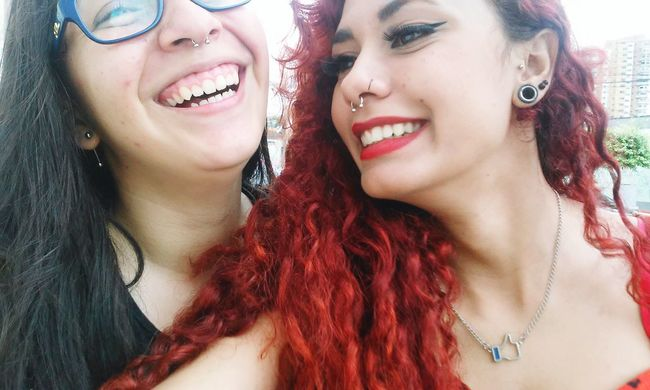 Happy Time Batomvermelho Redhead First Eyeem Photo Red Crazzy Girl Septum Peircing Badgirl LU4 Bad Day Sad Girl Sadness