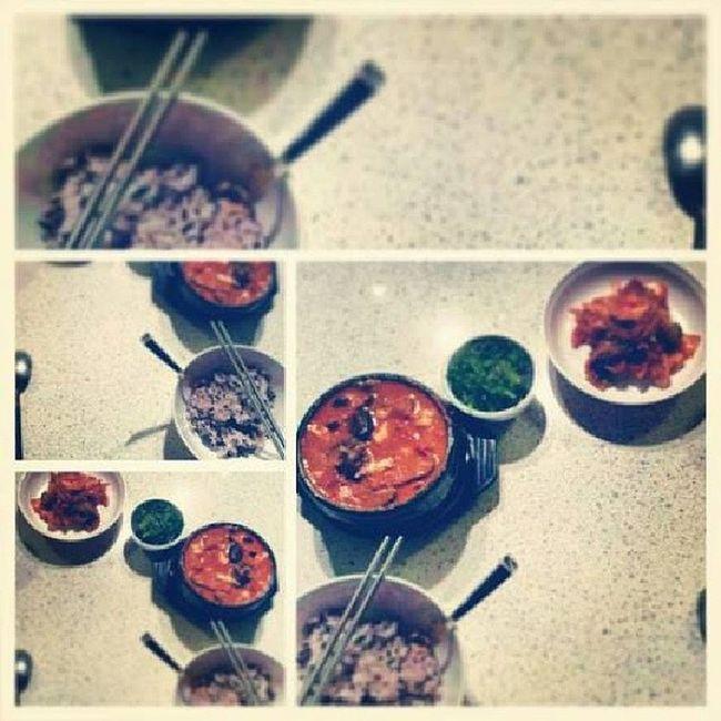 Late night dinner Soontofu Firstattempt Success Comfortfood food foodgasm food52 love