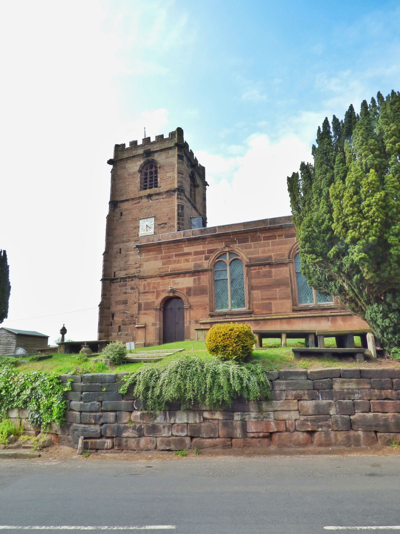 Little Budworth Church // Architecture Building Exterior Built Structure Cheshire Cloud Cloud - Sky Day Exterior Façade Green Color Growth Historic History Little Budworth Low Angle View Mike Whitby Nature No People Outdoors Plant Sky Stock Image Stock Photo The Past Tree