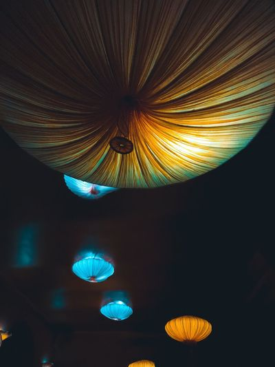 Pattern Illuminated No People Night Indoors  Restaurant Design Lamp Light Beautiful Ceiling Ceiling Lights East Maitre Prague Interior Design Interior Views Latern Orange Decoration Decor Decorative