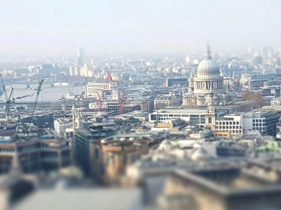London skyline in 'miniature' Cityscape City Architecture Urban Skyline Tilt-shift St Pauls Cathedral LONDON❤ London Skyline