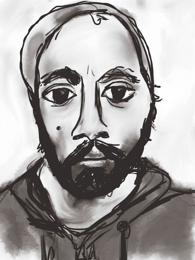 Sktchy Digital Painting Blackandwhite Portrait