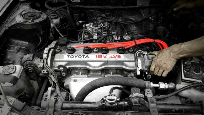 Tuning my Japanese beast Engine Toyota Colorsplash Garage Auto Contrast