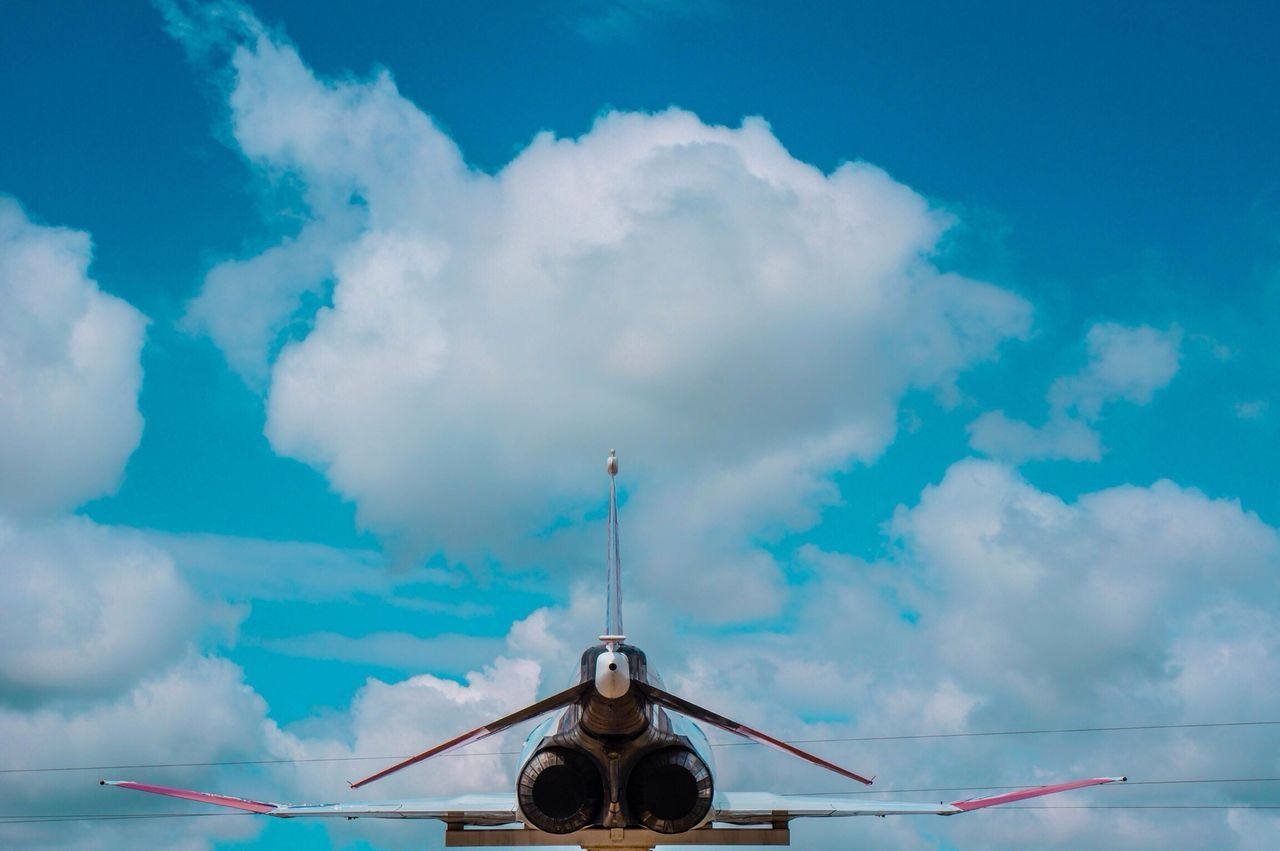 Beautiful stock photos of plane, Atmosphere, Blue, Clouds, Courage