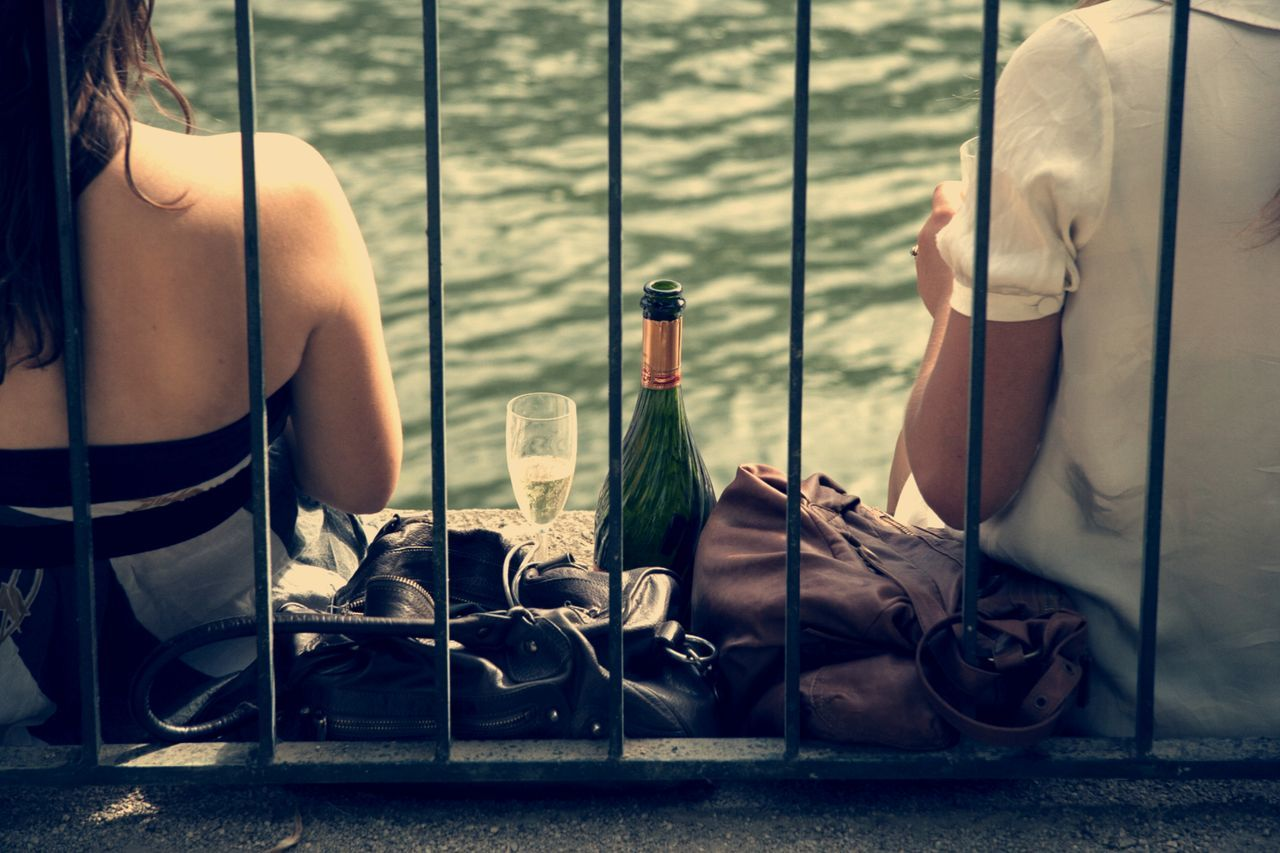 Women drinking Champagne. Seine river bank. Attitude Champagne Champagne Glasses City Life Drinking Friends Friendship Leisure People Real People Relax Seine Summertime Togetherness Unrecognizable Person Women Quiet Moments Femininity Peoplephotography Seine River Banks Bergesdeseine Up Close Street Photography The Street Photographer - 2016 EyeEm Awards