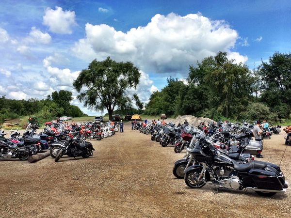 Motorcycles V-twin Summertime Relaxing Bikers Old Metal Americana Psycho Silo MidWest