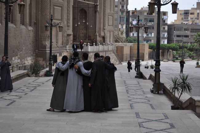 Architecture Cairo Islamic Jilbab Large Group Of People Men Mosque Outdoors Person Said Sultan Hassan Mousque Upper Egypt