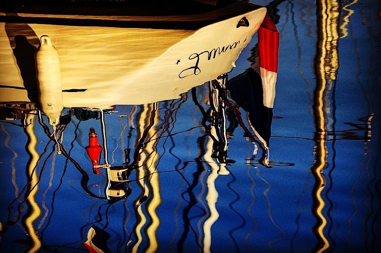 No People Water Outdoors Sky Day Ile De Ré Water Reflections Sailboat Flag French Flag