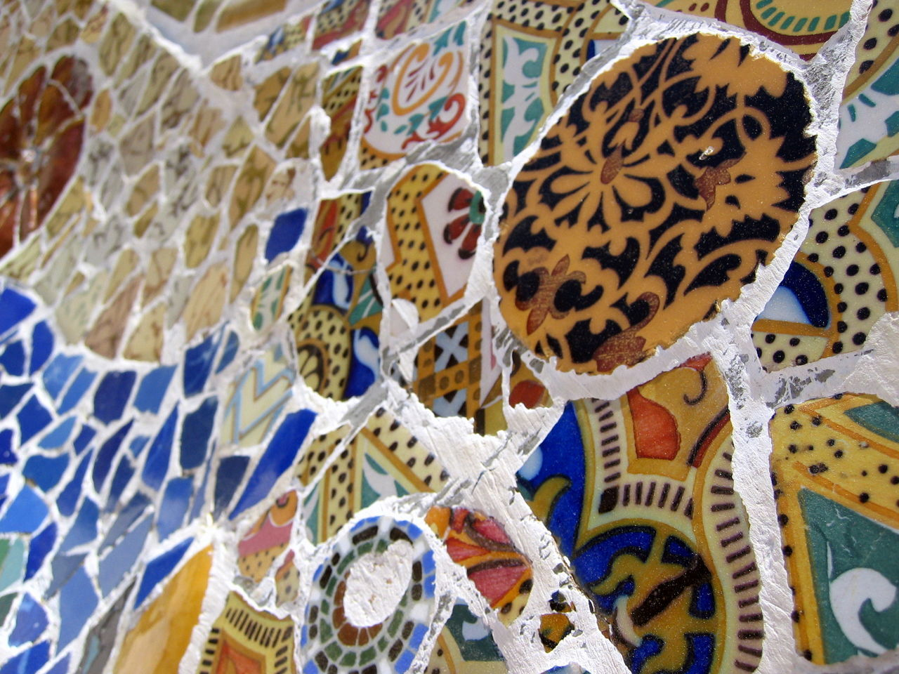 Backgrounds Barcelona Close-up Day Full Frame Gaudi Multi Colored No People Outdoors Pattern S