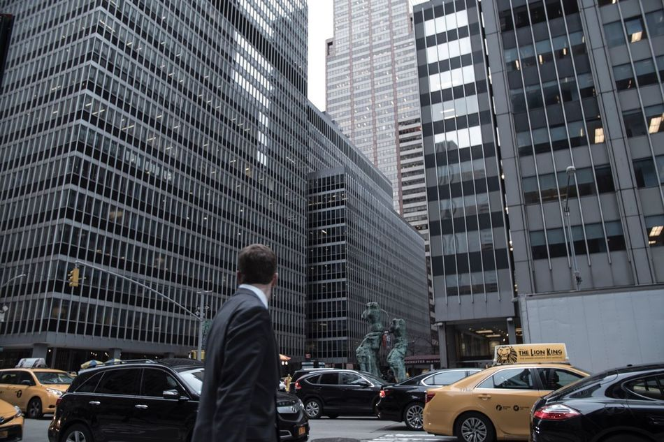 NYC, 2016 City Skyscraper Suit Businessman My Year My View Traveling 35mm The Week Of Eyeem New York New York City NYC Financial District  Men Yellow Taxi Streetphotography Street Busy Rush Hour USA Manhattan Looking One Person