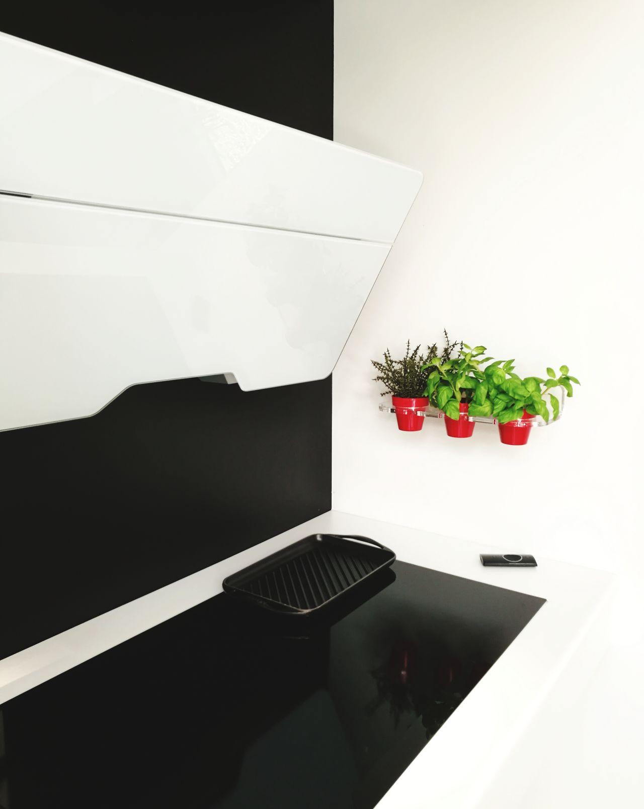 Kitchen Interior Design Interior Design Herbs HOB Hood Blackandwhite