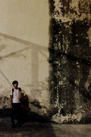 Macau Street Snap Light And Shadow Yellow Light Northern Oak Penha Boyfriend Lover Man Space We Are Small
