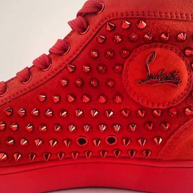 Shootshoes4fabriqe .comSpikes Red Pimp Christian suboutine...