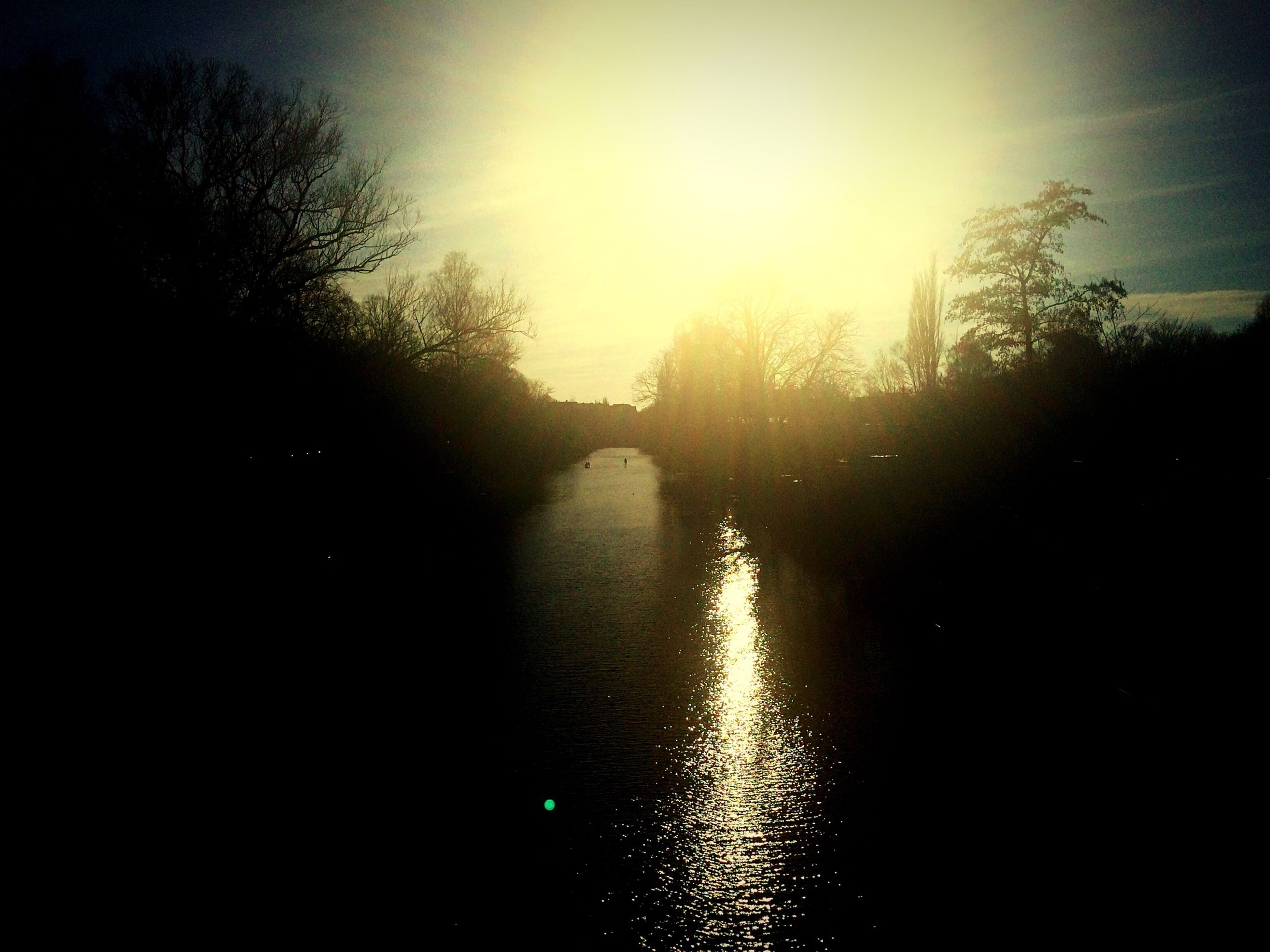 Hamburg River Barmbek Sun Light Spring
