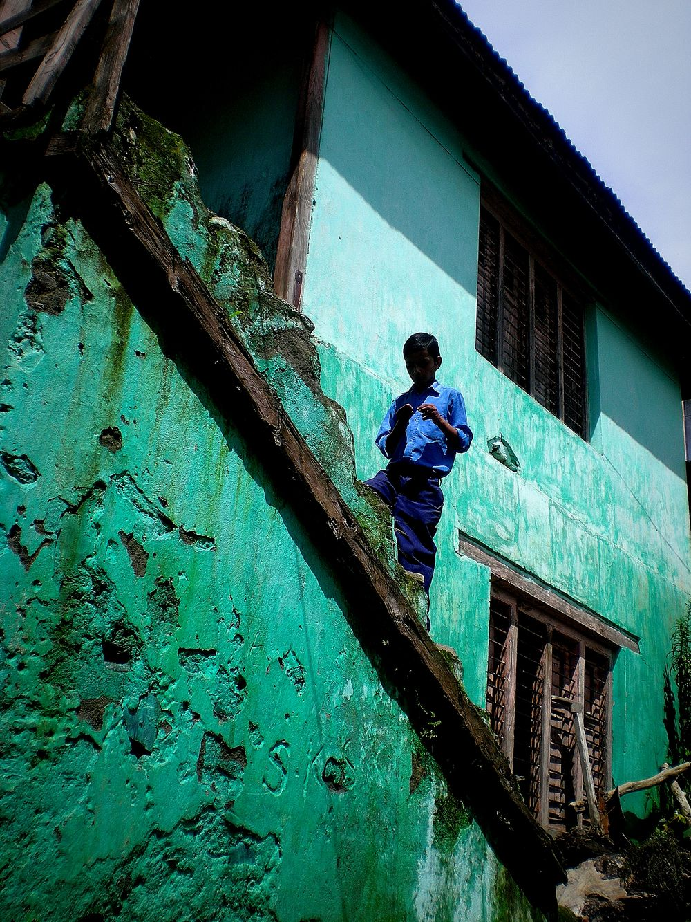 Boy Rural School Colour Of Life Low Angle View One Person Jammu And Kashmir Village Life India Hope Education