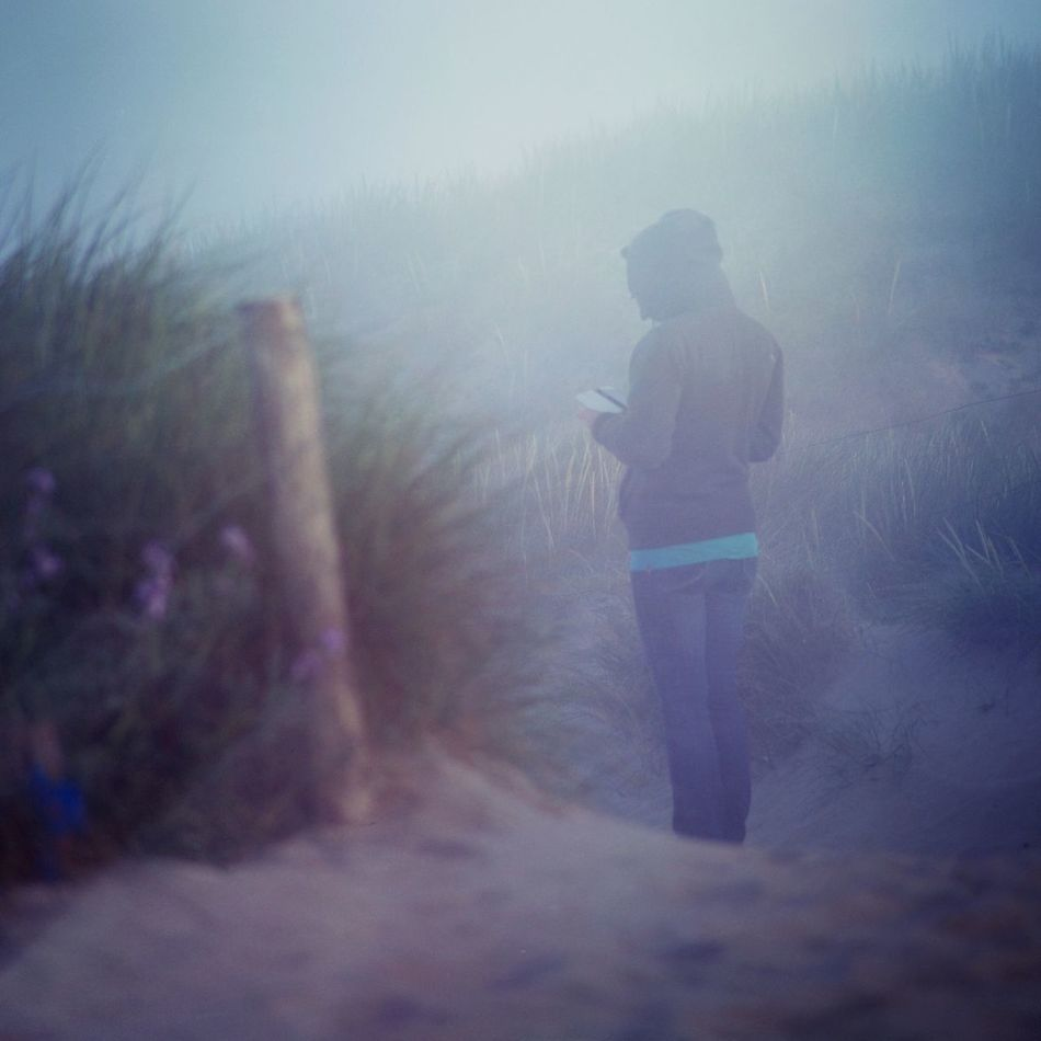 Hidden Gems  Selective Focus Nature Photography Outdoors Nikond610 Finistere France Bretagne Plage De Tronoën Woman Atmospheric Mood Beauty In Nature Idyllic Scenery Morning Light The Week Of Eyeem Nature People Beach Cold Morning