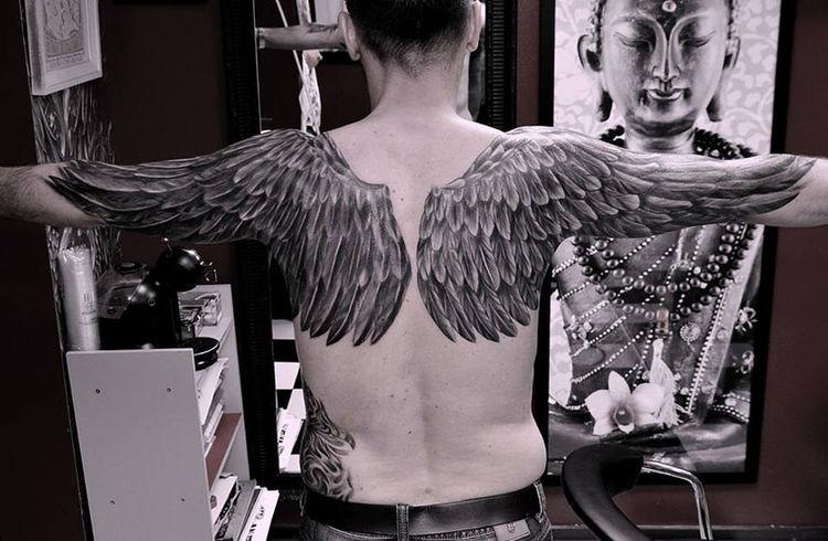 People Tattoo Tattoos Color Portrait Blackandwhite