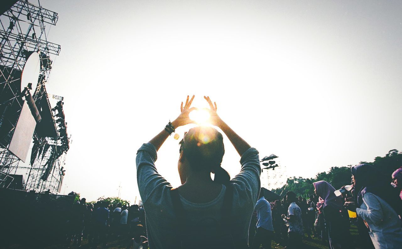 Beautiful stock photos of music festival, Arms Raised, Arts Culture And Entertainment, Copy Space, Day