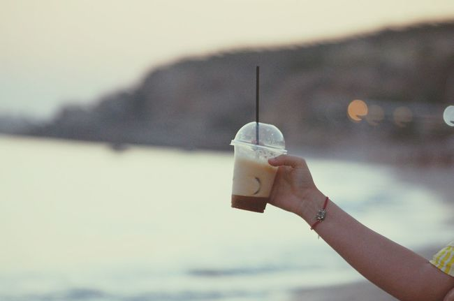 Summer Relaxing Seaside Life Is A Beach Think Different Vintage Style Albania Albanian Riviera Sea And Sky Vlore Coffee Coffee Time Coldcoffee Dhermiu Holidays Hipster Elephant Art Hands Blurry