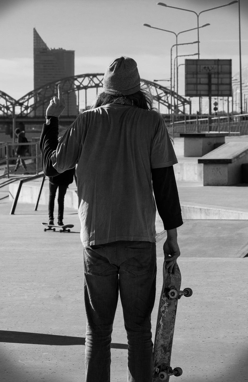 Adult Architecture Built Structure City Day Full Length Leisure Activity Lifestyles Men Outdoors Outdoors Photograpghy  People Real People Rear View Riga Skateboarder Skateboarding Skating Sky Sport Sportsman Standing Urban