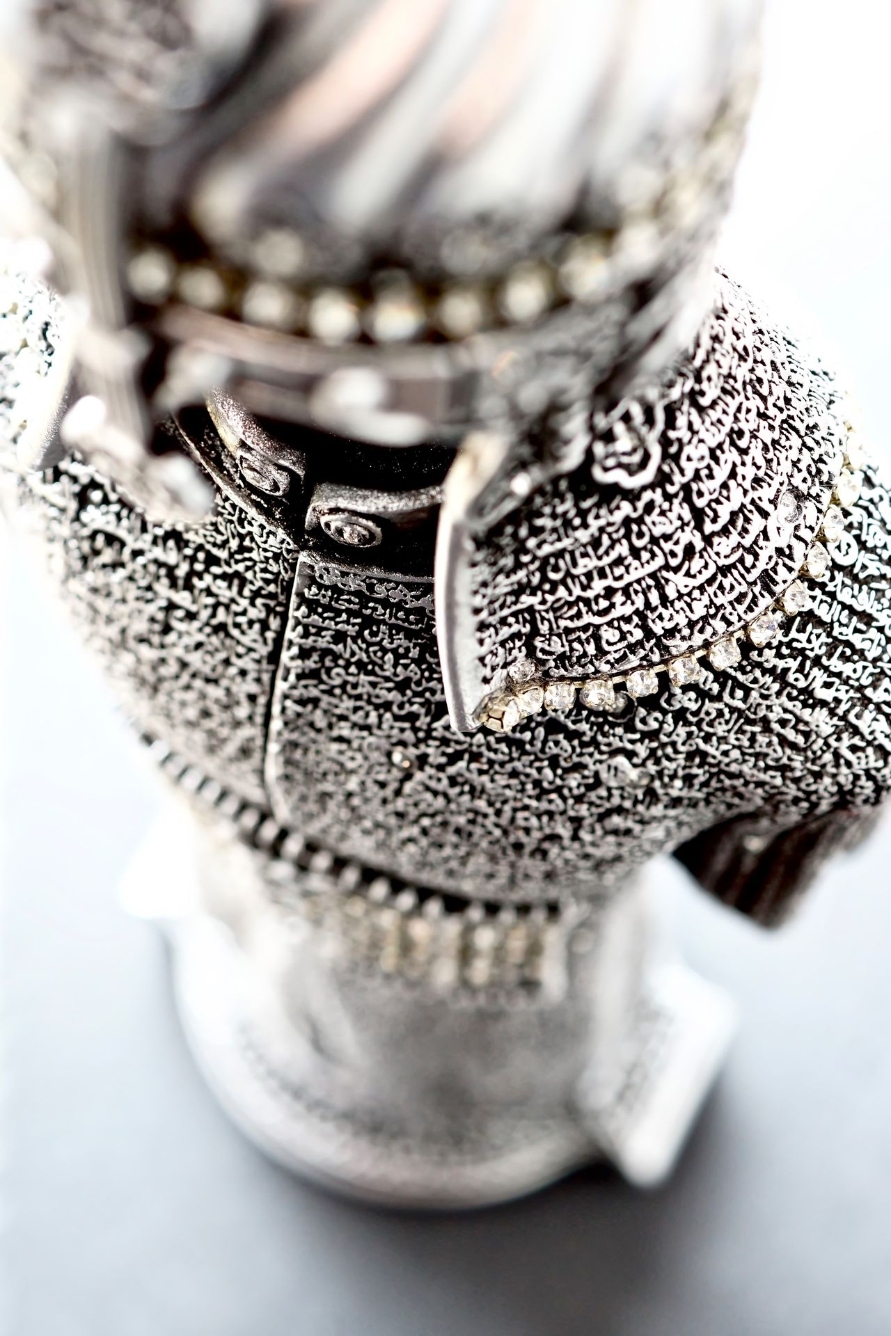 Arabic Armour Close-up Intricate Islam Macro Metal No People Statue Top Down White Background