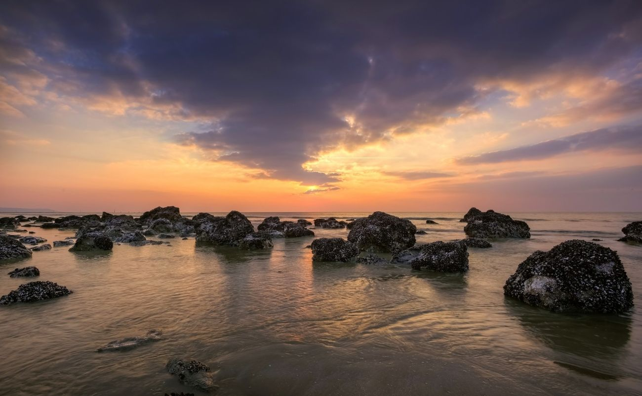 Sea Sunset Nature Landscape
