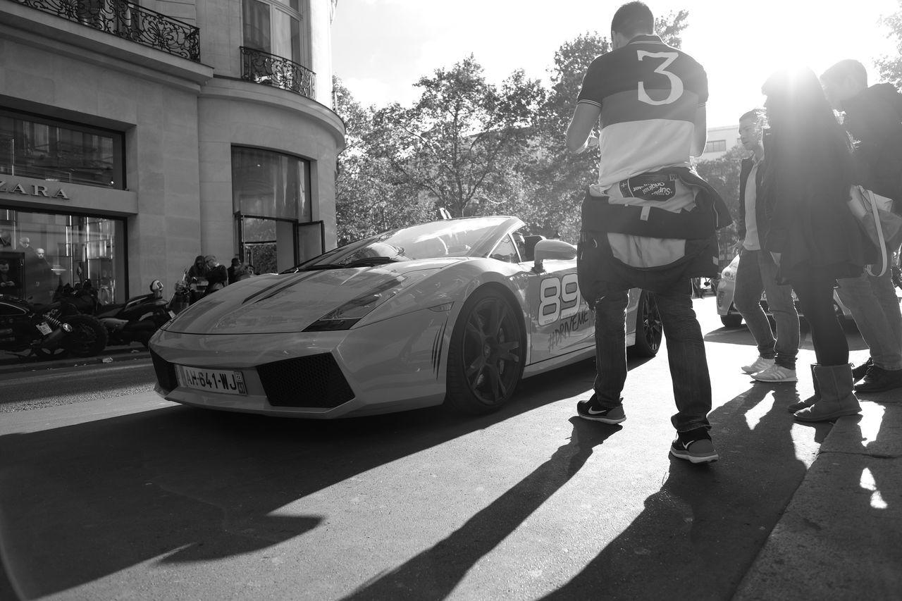 Lamborghini Sport Cars Blackandwhite Street Photography Paris Fuji X-T1 Blackandwhitephotography Black And White Photography Blac&white  Cars Car