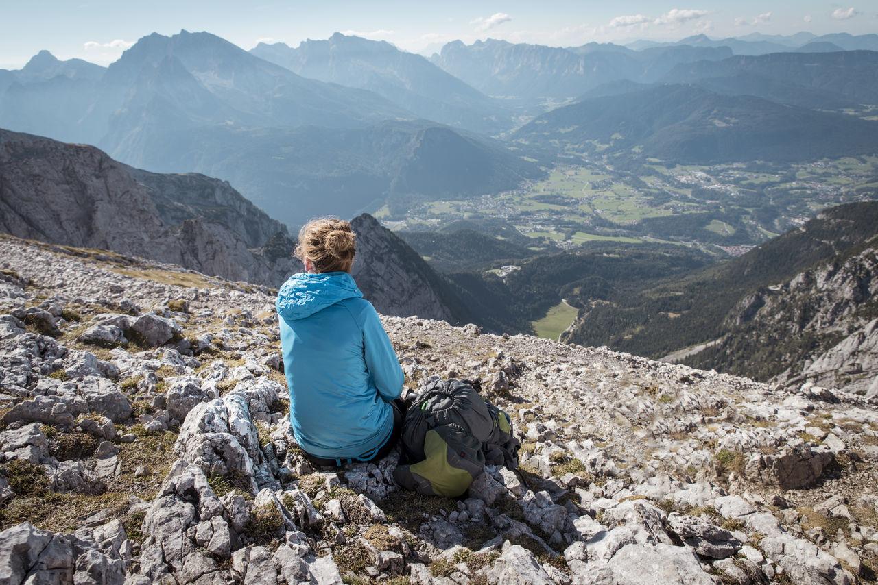 Backpack Berchtesgaden Break Hiking Hoher Göll Landscape Mountains Nature Resting Rocks View Watzmann Woman Woman Portrait Women Around The World