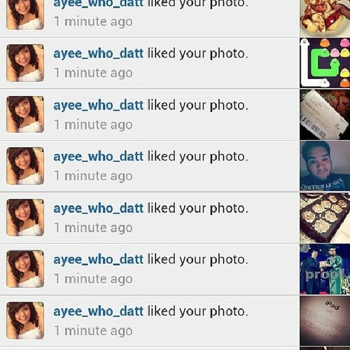 This bitch BEARLY liking my pictures. Smh. Bootyhurt . Thanks tho. (; @ayee_who_datt