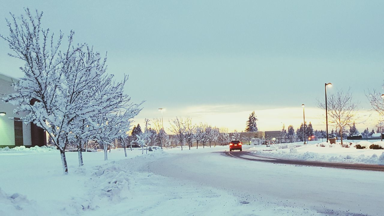 Snow Ice Winter Snow Sunset Snow Covered Snowy Snowy Sunset Snowy Landscape Wintertime Winter Wonderland Winterscapes Winter Trees Snow Covered Trees Snowscape White Winter Tail Light Blanket Of Snow Snow Covered Road Snow Covered Streets EyEm New Here