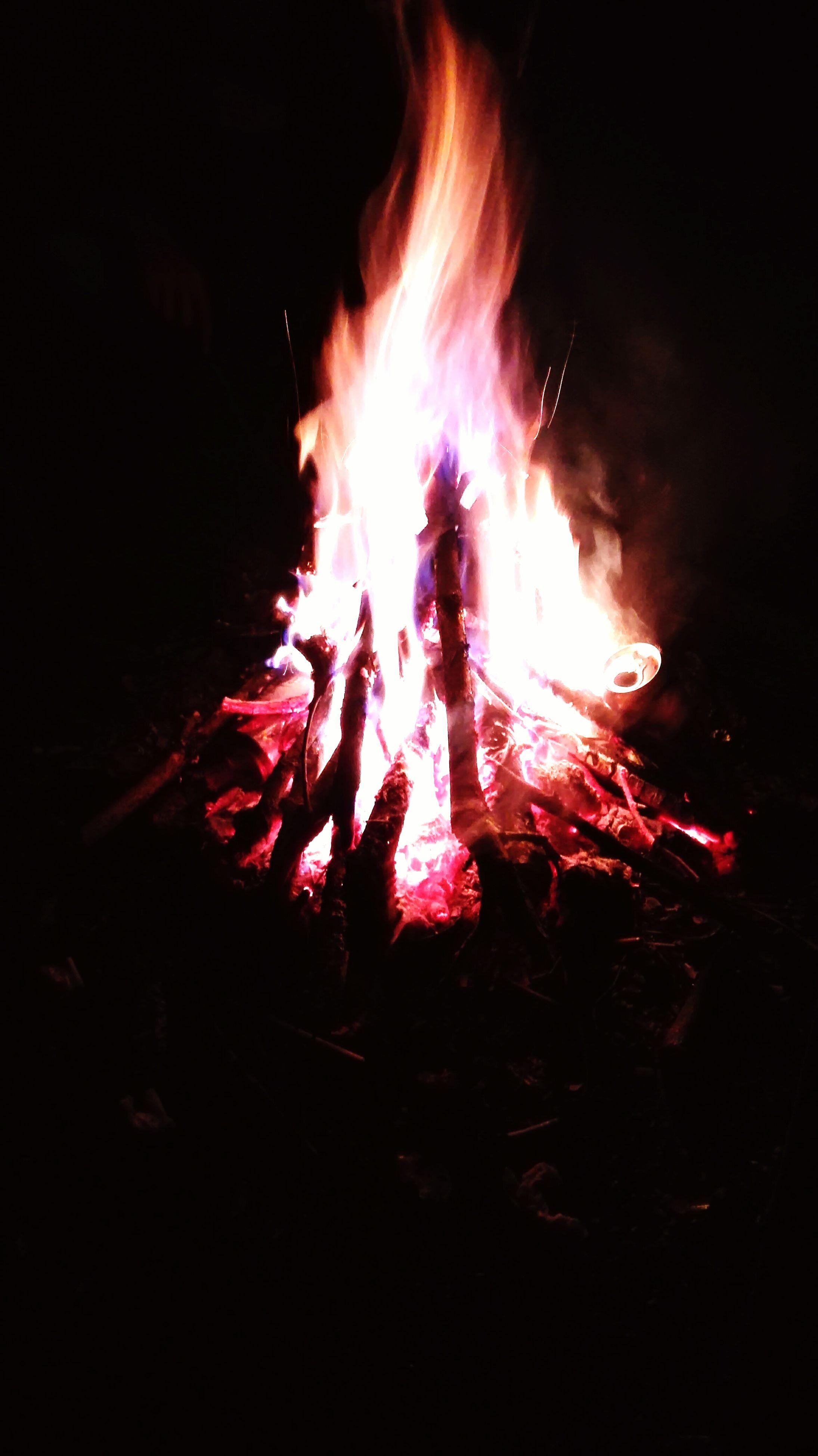 fire - natural phenomenon, burning, night, flame, heat - temperature, glowing, bonfire, fire, motion, illuminated, long exposure, dark, campfire, heat, light - natural phenomenon, firewood, outdoors, sparks, orange color, close-up